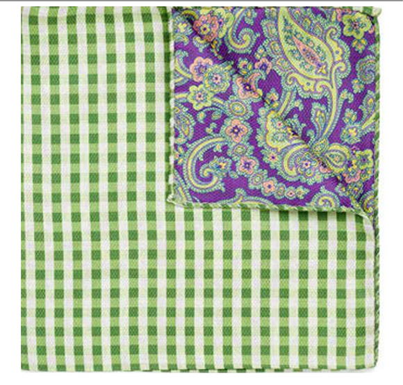 Green & Purple Pocket Square