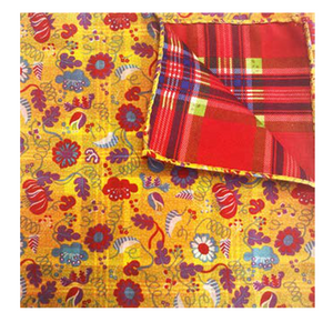 Red & Yellow Floral Pocket Square