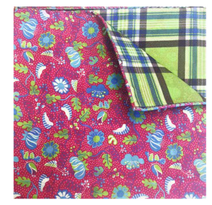 Pink & Green Floral Pocket Square