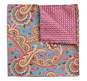 Multi Color Filigree Pocket Square