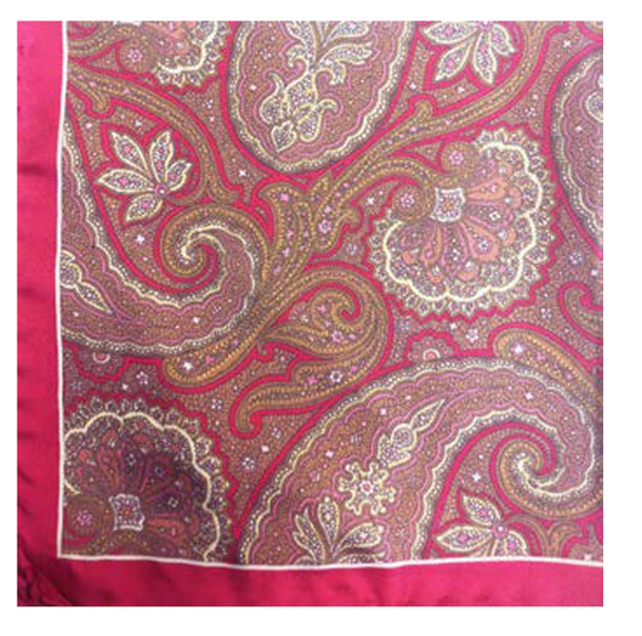 Pink Paisley with Border Pocket Square
