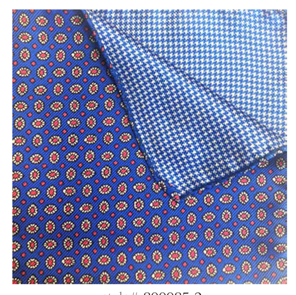 Blue with Orange Daisy Dot Pocket Square