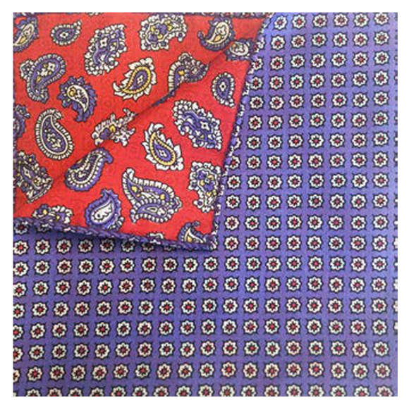 Blue Daisy Dot Pocket Square