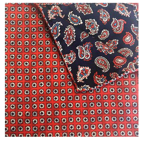 Red Daisy Dot Pocket Square