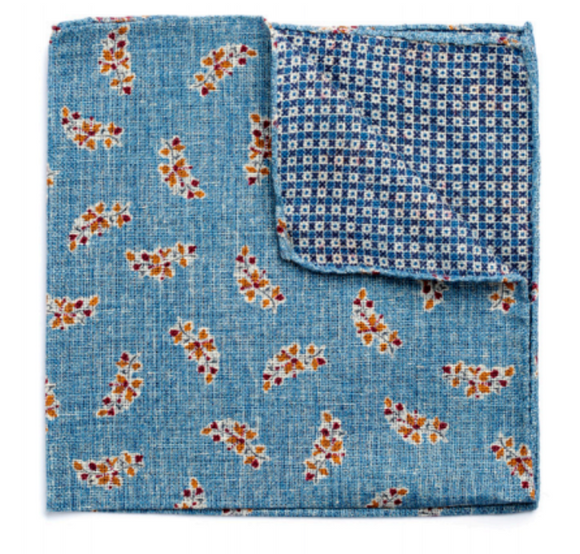 Simple Floral Pocket Square