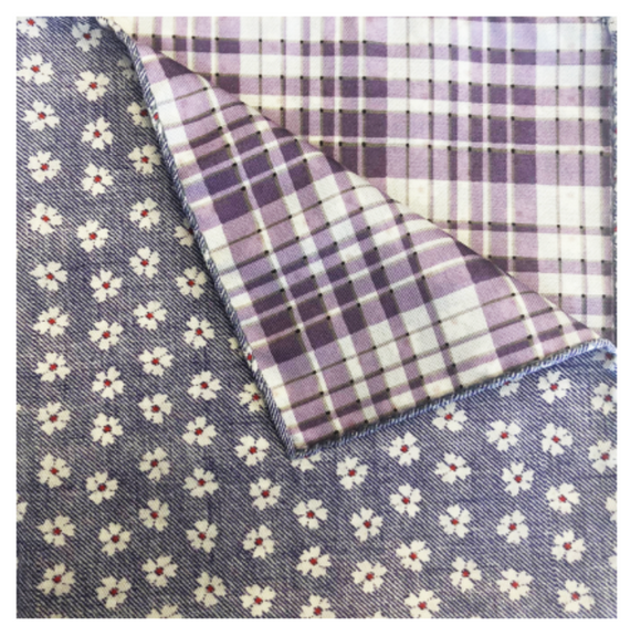 Slate Daisy Pocket Square