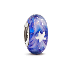 """Shine Like a Star"" Hand Decorated Glass Bead - Fenton Glass Jewelry"