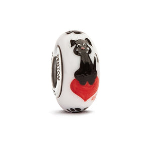 """Muttley"" Hand Decorated Glass Bead - Fenton Glass Jewelry"