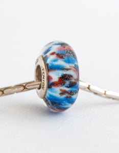 """Liberty"" Glass Crafted Bead"
