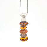 Silver Vertical Bead Holder Pendant