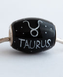 """Taurus Cornerstone"" Hand Decorated  Bead"