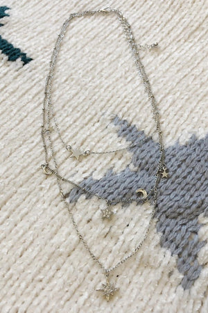 North Star Layering Necklace - Silver
