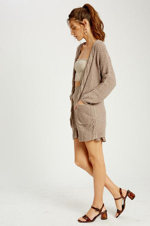 Warm Me Up Cardigan - Mocha