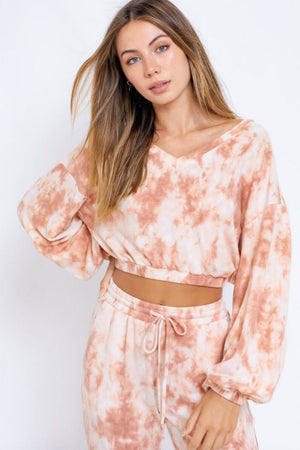 Stormi Weather Lounge Pullover - Burnt Peach