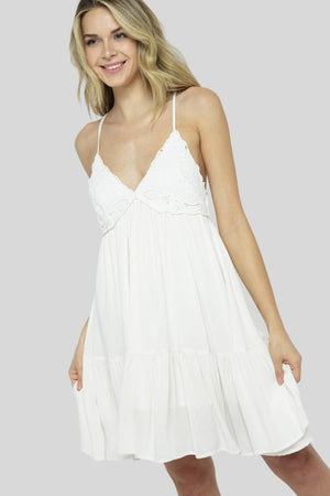 Butterfly Kisses Mini Dress - Ivory