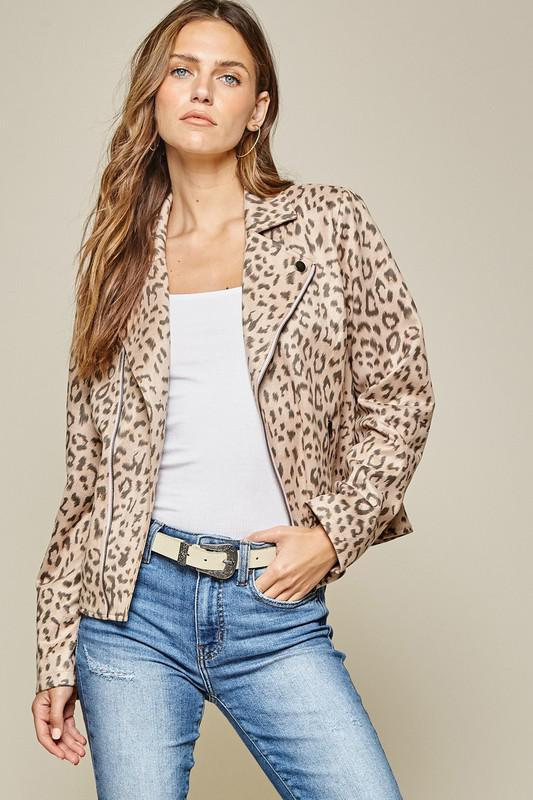 Wild For You Leopard Suede Jacket