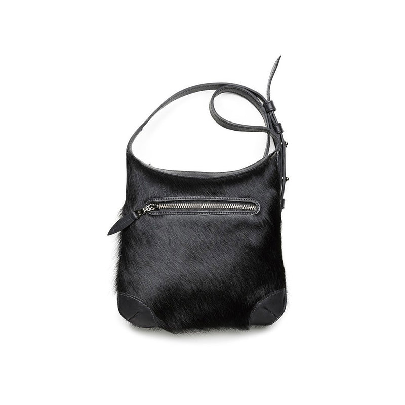 DAGMAR crossbag, large, fur, black