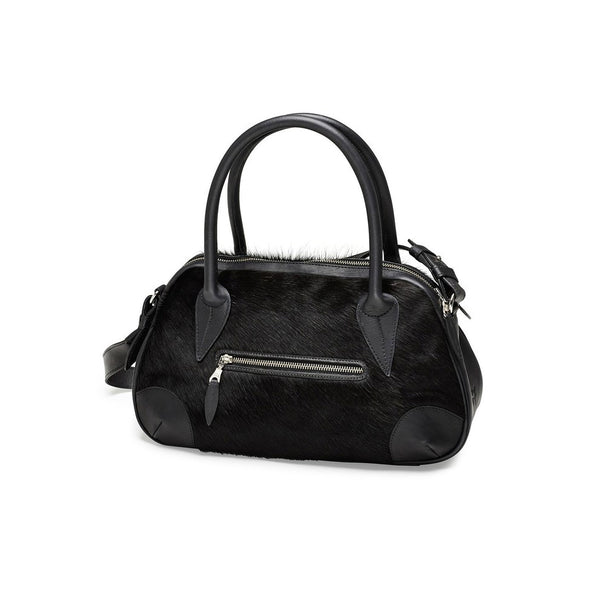 DAGMAR handbag, fur, black