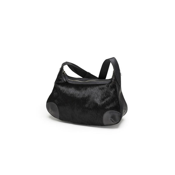 DAGMAR shoulderbag, fur, black