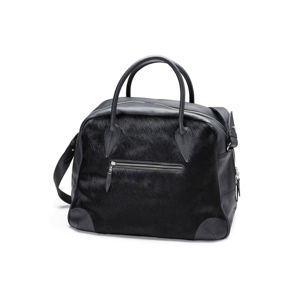 DAGMAR travel bag, fur, black