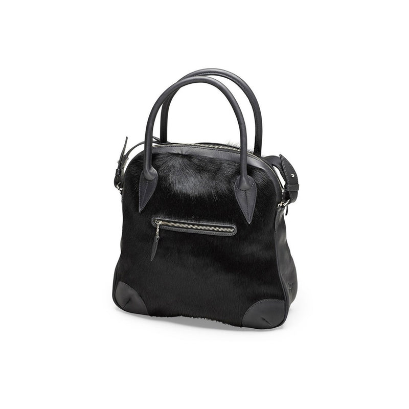 DAGMAR work bag, fur, black