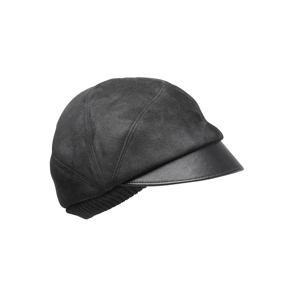 FREDDY cap, sheep fur, black