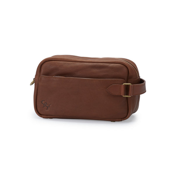 GORM veg, toiletry bag, marron