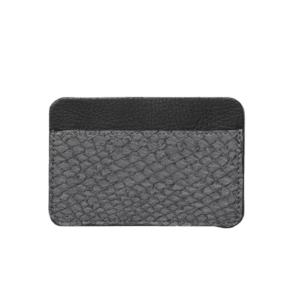 LIBERTY cardholder, salmon skin, grey