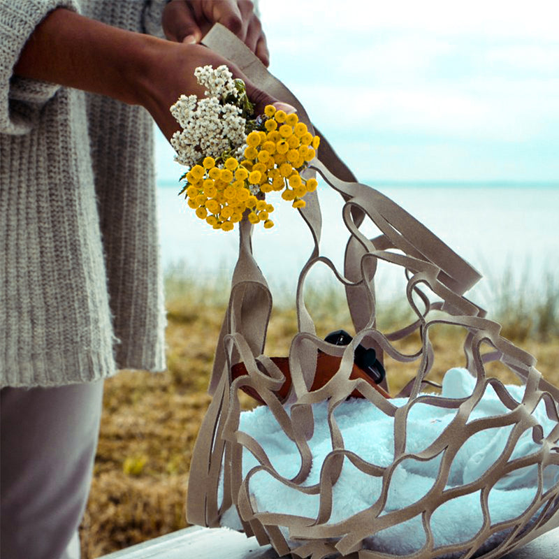 One piece bag, soft, black