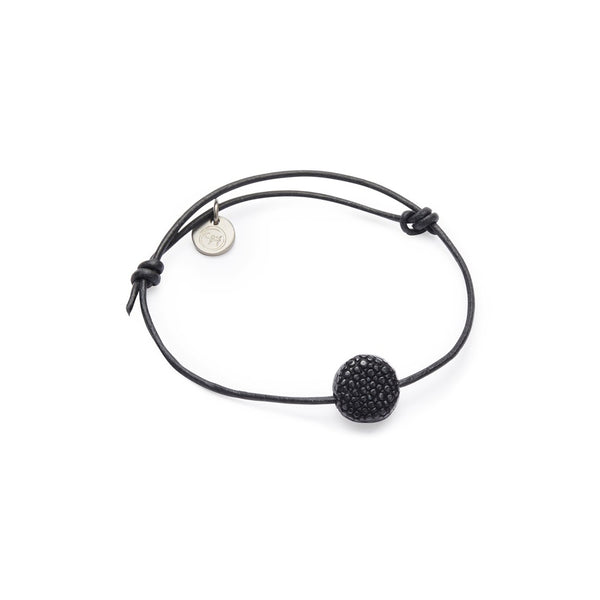 SIF bracelet, raw, black