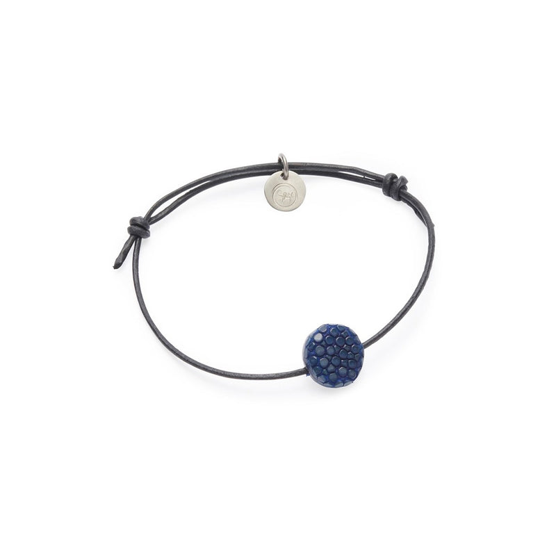 SIF bracelet, raw, blue