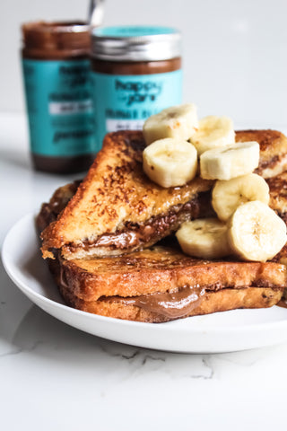 dark chocolate french toast breakfast protein fit kids child banana