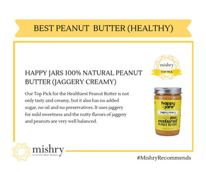 Jaggery Creamy Peanut Butter (290g) - 100% Natural, No Sugar, No Oil