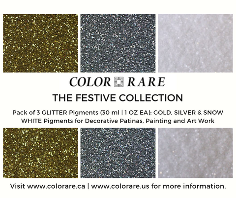 The Festive Collection - 3 Pack of Glitter Pigments