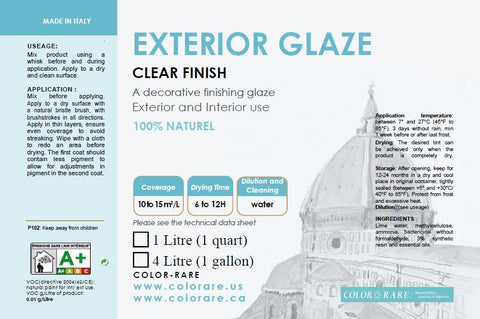 EXTERIOR GLAZE | Decorative finish