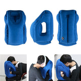 Inflatable soft foldable travel pillow
