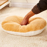 Cat & Puppies Hamburger Sleeping Bed