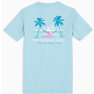 "Southern Tide ""Perfect Place"" Tee Blue"