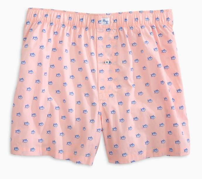 Men's Light Pink Southern Tide Skipjack Boxers