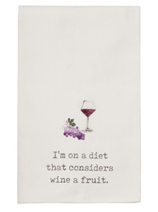 Wine & Food Humor Hand Towel