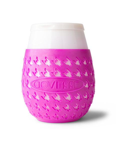 GoVerre Stemless Pink Wine Glass