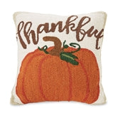 Thankful Pumpked Hooked Pillow 4162004