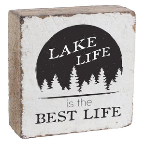 Rustic Marlin Lake Life Is The Best Life Wood Block