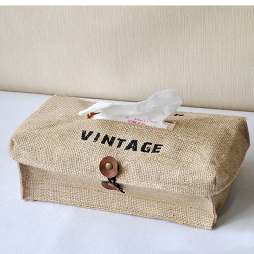 Fashion Creative New Fabric Cotton  linen tissue box cover type home decoration napkin holder for paper towels