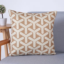 Load image into Gallery viewer, geometric Pillow cover Pillowcase Cotton Linen Printed Throw Pillow Cover Pillows Decorative Home Pillow Case