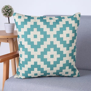 geometric Pillow cover Pillowcase Cotton Linen Printed Throw Pillow Cover Pillows Decorative Home Pillow Case