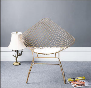 Nordic hollow iron wire chair modern simple dining chair designer chair creative studio clothing leisure chair