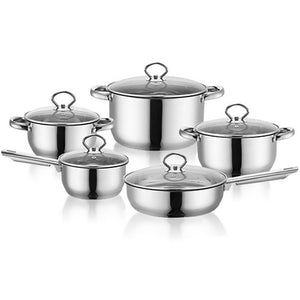 Kitchen Stainless Steel Pots Cookware Sets Durable Exquisite Cookware Sets Pots for Family Restaurant Chef