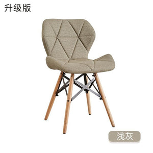White chair creative modern minimalist office chair home computer chair study backrest adult Nordic dining chair