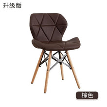 Load image into Gallery viewer, White chair creative modern minimalist office chair home computer chair study backrest adult Nordic dining chair